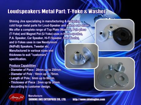 ,Speakers part Washer and T-Yoke made in Taiwan